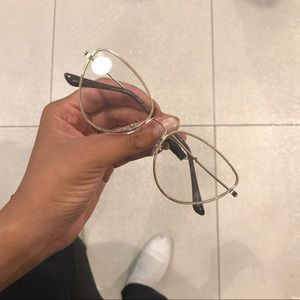 NWT - Clear Lens Small Cat Eye Shaped Glasses